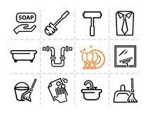 Icons set Cleaning Stock Image
