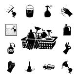 Icons set Cleaning Stock Photos