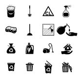 Icons set Cleaning Royalty Free Stock Photography