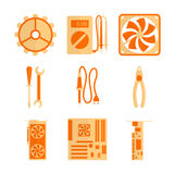 Icons set for computer repair Stock Image