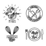 Icons set cooking lessons Stock Photo