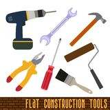 Icons set of craft, tools Stock Images