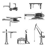 Icons set of cranes Royalty Free Stock Photography