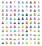 Icons set of creative people design flat. Icons set of creative people design flat elements. Modern vector logo collection concept stock illustration