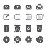 Icons set design element Stock Image