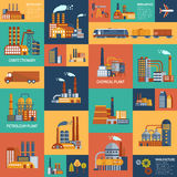 Icons Set With Different Types Of  Industrial Stock Photo