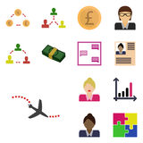Icons set earnings/ Vector icon aircraft, airplane, Royalty Free Stock Photography