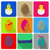 Icons Set of Easter Royalty Free Stock Image