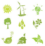 Icons set - Ecology Royalty Free Stock Photo