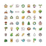 Icons set ecology Royalty Free Stock Photo