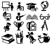 Icons set education Stock Photo