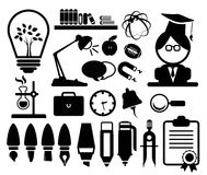 Icons set Education Stock Photography