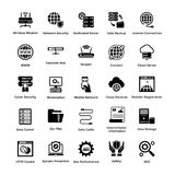 Web Hosting Glyph Icon Designs 4 Royalty Free Stock Images