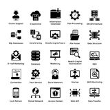 Web Hosting Glyph Icon Designs 5. This icons set encompasses wide range of designs for web hosting. There is a whole range of concepts that revolve around this Royalty Free Stock Image