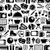 Icons set entertainment Royalty Free Stock Photos