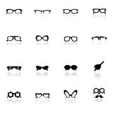 Icons set  Eye glasses Royalty Free Stock Image