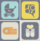 Icons set for family life. Royalty Free Stock Image