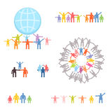 Icons set of family and relations Royalty Free Stock Image