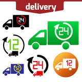 Icons set of Fast delivery. The business. Icar and arrow solated on white background royalty free illustration