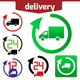 Icons set of Fast delivery. The business. icon and arrow on white background vector illustration