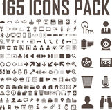 165 icons set. 165 flat icons vector set vector illustration