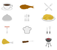 Icons set food Royalty Free Stock Images