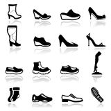 Icons set Footwear Stock Photography