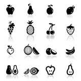 Icons set fruits Royalty Free Stock Photos