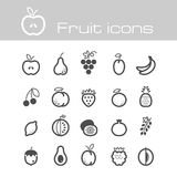 Icons set fruits Stock Photography