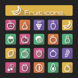 Icons set fruits Stock Photos