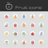 Icons set fruits Stock Image