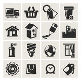 Icons set furniture. Authors illustration in vector Royalty Free Stock Image