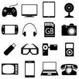 Icons set of gadgets royalty free illustration