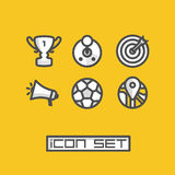 Icons set game Royalty Free Stock Photos