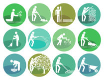 Icons set gardening Object Royalty Free Stock Photography
