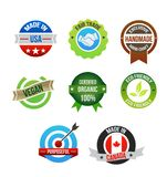 Icons set for hand made products vector illustration