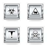 Icons set of the Hazard signs. vector  Stock Image