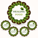 Icons set for healing food Royalty Free Stock Images