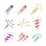 Icons set Holidays. Party, Birthday Stock Photography