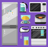 Icons set of home appliance Stock Photography