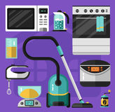 Icons set of home appliance Royalty Free Stock Photography