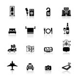 Icons set Hotel and travel Stock Photo