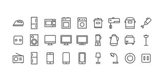 icons set household appliances for home and office for use every day vector illustration