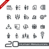 Icons Set of Human Resources and Business Management -- Basics Royalty Free Stock Image