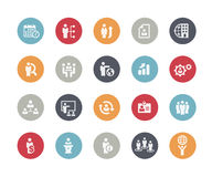 Icons Set of Human Resources and Business Management // Classics. Vector icons for your web or printing projects Royalty Free Stock Images
