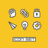 Icons set ideas. Vector illustration Royalty Free Stock Photo