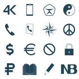 Icons set,  illustration. Stock Photo