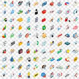 100 it icons set, isometric 3d style Stock Images
