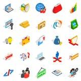 IT icons set, isometric style Royalty Free Stock Photography