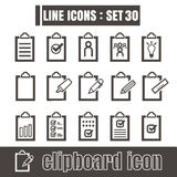 Icons set Journal book notes record paper line black Modern  Stock Photography